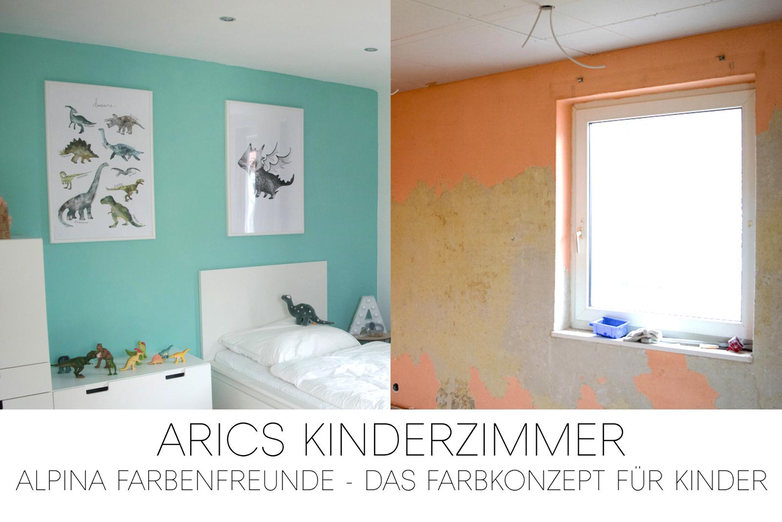 alpina farbenfreunde kinderzimmer farbkonzept geckogrün grün türkis ...
