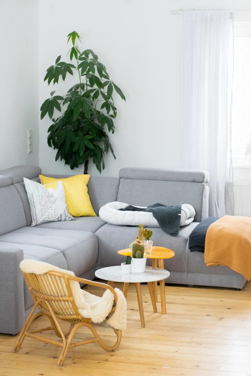 Sonnengelb im Wohnzimmer | Happy Home 2018 mit Höffner