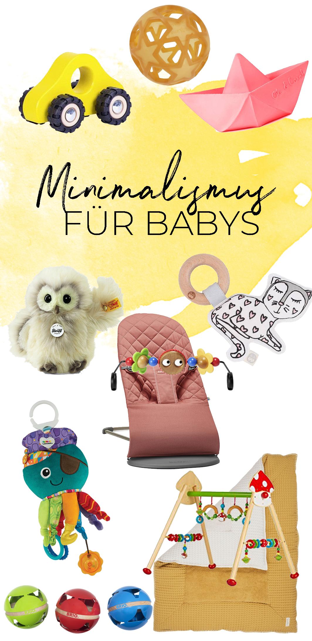 Minimalismus im Kinderzimmer | Spielzeug und Geschenke für das Baby