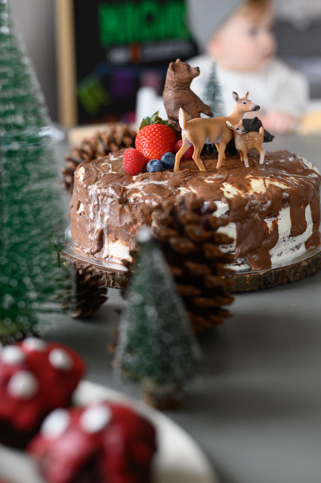 Geburtstag Kindergeburtstag Traditionen Naked Cake Himbeere